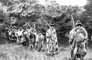 Pacheck y grupo familiar Selknam