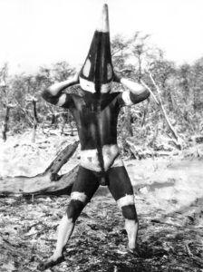 Matan, espíritu de la ceremonia Selknam del Hain.